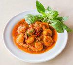 Keto coconut curry shrimp